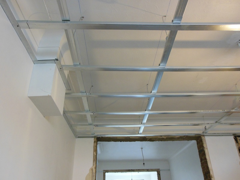 Joint placoplatre plafond ajaccio conseil travaux for Faux plafond demontable